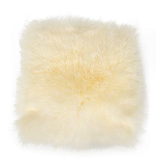 Sitzkissen Lammfell naturweiß ( 35x35cm )  – Bild 1