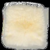 Sitzkissen Lammfell naturweiß ( 35x35cm )  – Bild 2