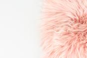 Sitzkissen Lammfell altrosa ( 35x35cm ) – Bild 2
