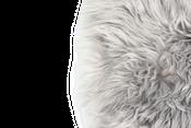 Sitzkissen Lammfell grau ( 35x35cm )  – Bild 2
