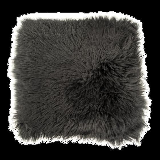 Sitzkissen Lammfell anthrazit ( 35x35cm )  – Bild 1