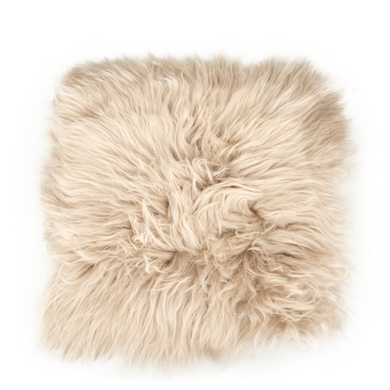 Sitzkissen Lammfell platingrau ( 35x35cm )  – Bild