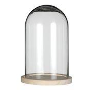 Glasdom groß mit Holzfuß Ø17cm Höhe 25cm – Bild 1