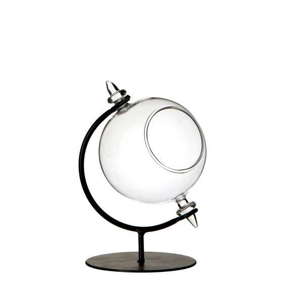 Glaskugel mit Metallständer ø 8cm Höhe 12cm | Sphären Glas – Bild 1