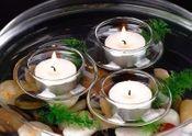 Teelichthalter aus Glas 6 Stück Ø 6,5cm | Schwimmlcihter – Bild 2