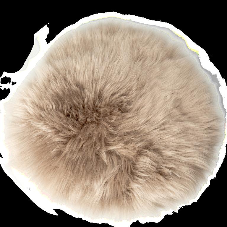 Sitzkissen Lammfell platingrau ( Ø 34 cm )