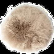 Sitzkissen Lammfell platingrau ( Ø 34 cm ) – Bild 1