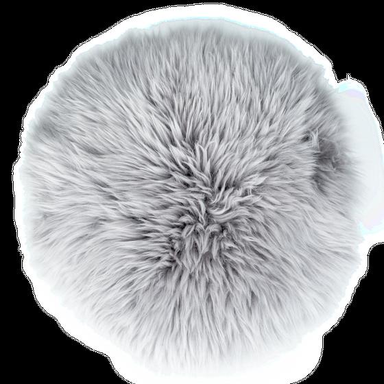 Sitzkissen Lammfell grau ( Ø 34 cm ) – Bild