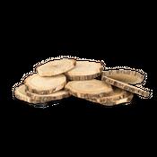 Holzscheiben natur 10 Stk. Ø6-10cm  – Bild 3