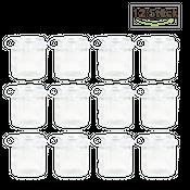 Windlichter 12 Stück Ø 7,5 cm / H 9 cm inklusive Dekoband aus weißen Doppelsatin – Bild 2