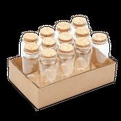 Apothekerflaschen mit Korken 12 Stück ca. 12,5x4,5cm | Deko Glasflaschen – Bild 2