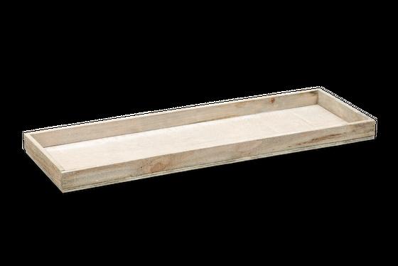 Holz-Tablett grau 60x20x4cm   Dekotablett – Bild 1