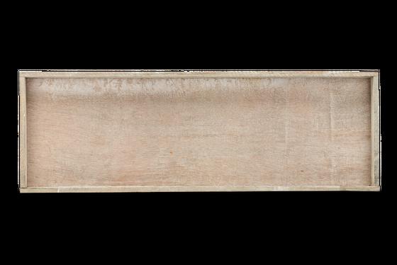 Holz-Tablett grau 60x20x4cm   Dekotablett – Bild 3