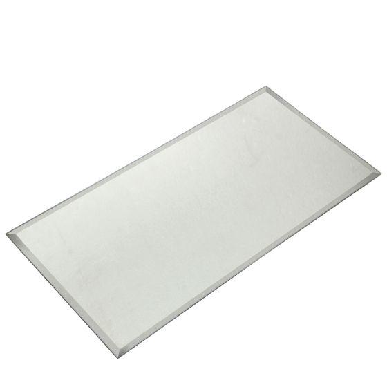 Spiegelplatte rechteckig 20x40cm mit Facettenschliff und Gummifüsschen  – Bild 2