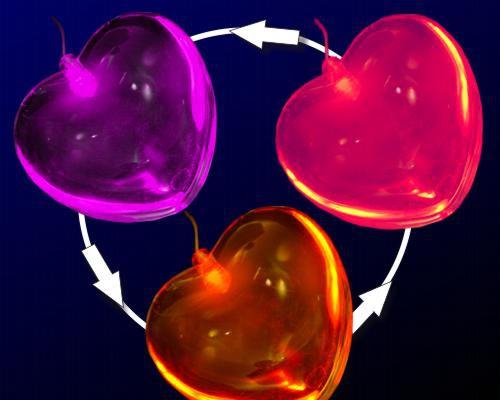 LED Herz klar mit ROP Farbwechsel