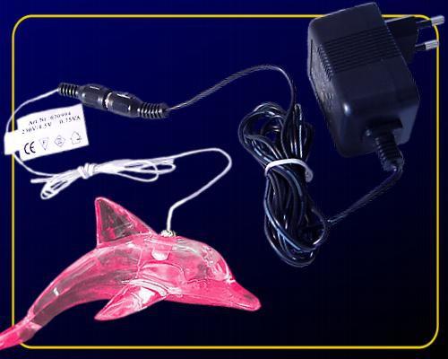 LED Delfin mit RGB Farbwechsel, 230 V Anschluss
