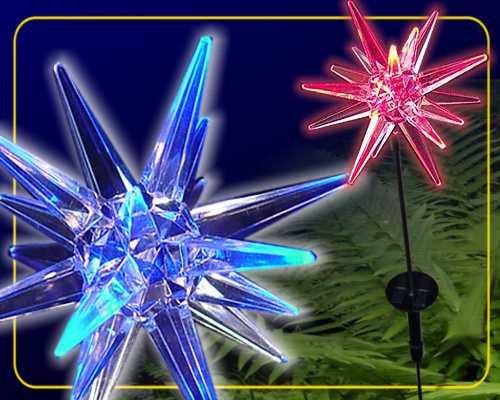 Solar LED Gartenstab Stern RGB