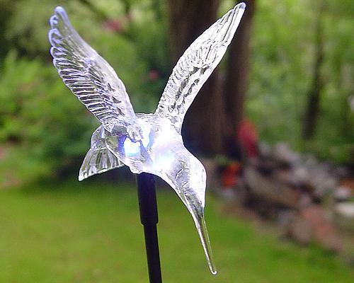 Solar LED Gartenstab Kolibri RGB – Bild 3