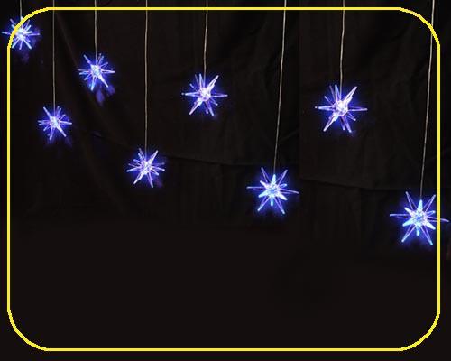 LED Girlande 100 cm, 8 Acryl Sterne blau – Bild 1