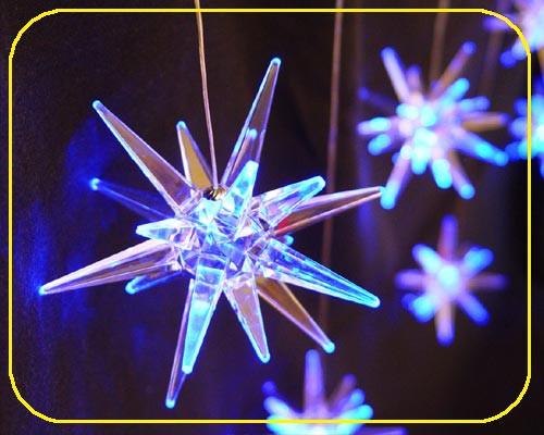 LED Girlande 100 cm, 8 Acryl Sterne blau – Bild 4
