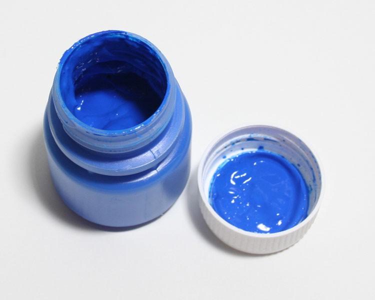 Tagesleucht Dispersionsfarbe fluo 60 ml blau – Bild 1