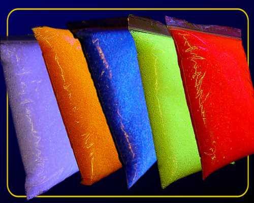 1 kg Deko Granulat fluoreszierend - Rot – Bild 3