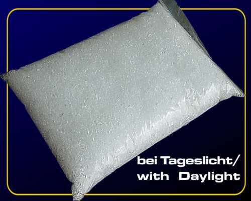 1 kg Deko Granulat fluoreszierend - Weiß-Blau – Bild 2