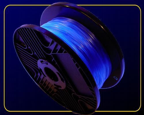 1 m Fluo UV Schnur fluoreszierend Ø 2 mm Blau – Bild 2