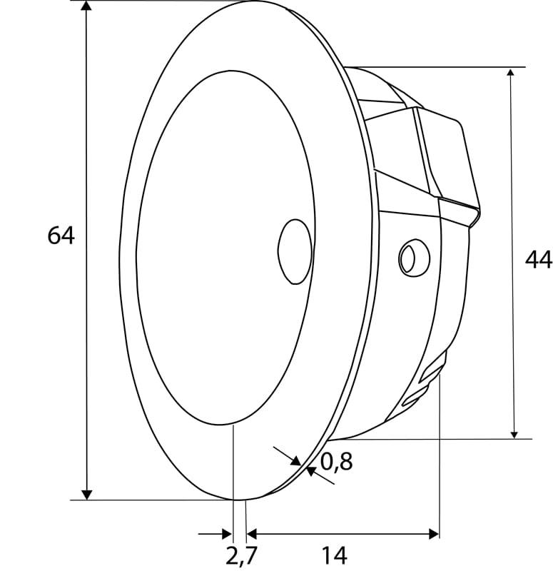 LED Möbeleinbaustrahler 2,5W | 3000K 129lm | Alu Rund  – Bild 2