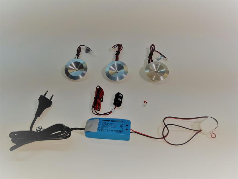 LED Set 3 x 2.5W  Neutralweiß | Primär Dimmbar | Möbeleinbau  – Bild 1