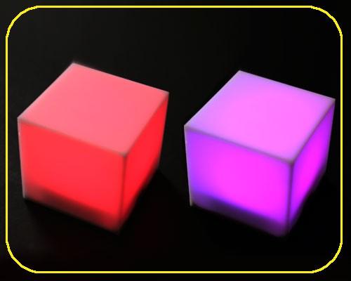 LED RGB Würfel 5cm Acryl weiß  – Bild 1