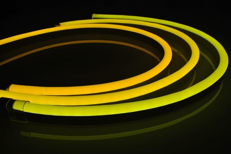 LED Neon Flex Pro Einfarbig | 24 VDC | 12 W/m | Gelb | 210lm/m | 20 m | dimmbar – Bild 1