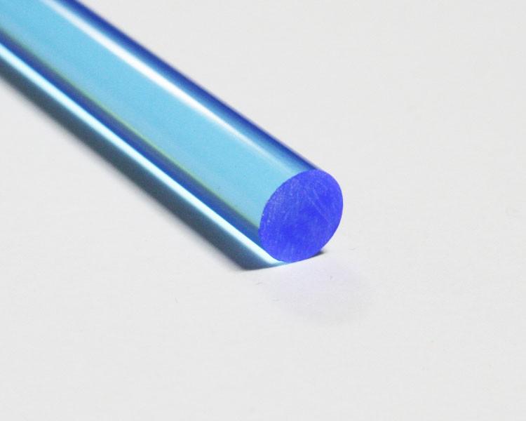 2 m fluo LISA® Acrylstab Rund Ø 10 mm blau