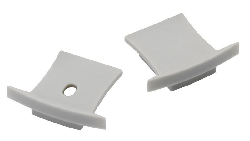2 Endkappen für 126-246 Alu T-Profil 36x28mm