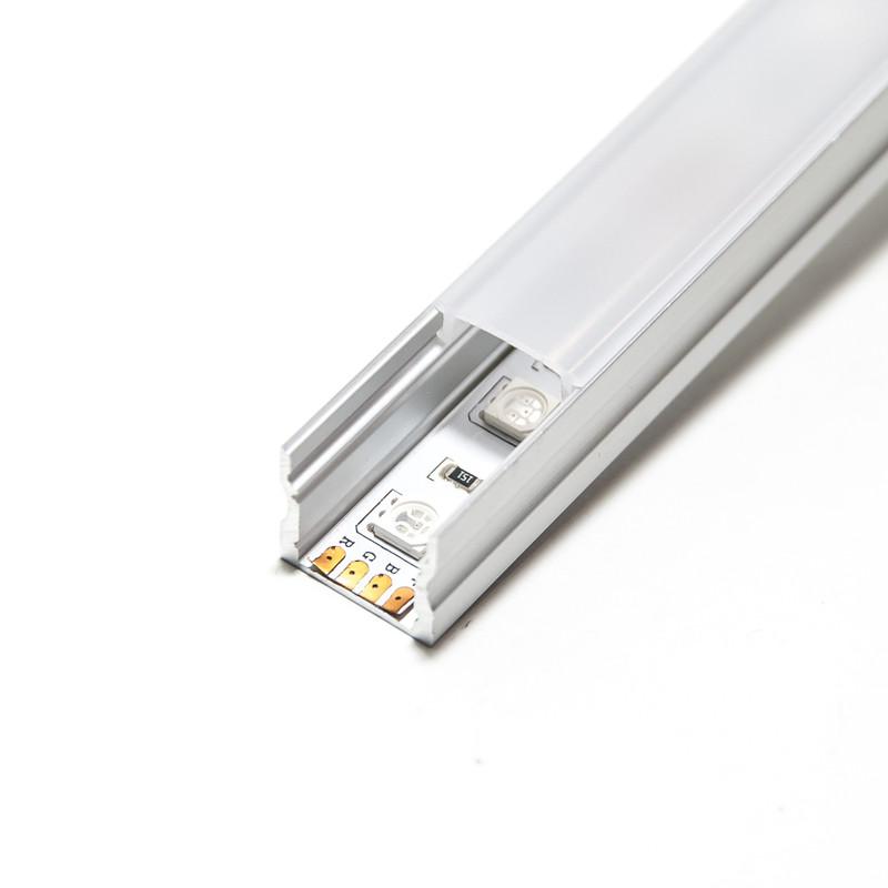 2m U-Profil | Alu hoch | 17x15mm | milchig Abdeckung – Bild 1