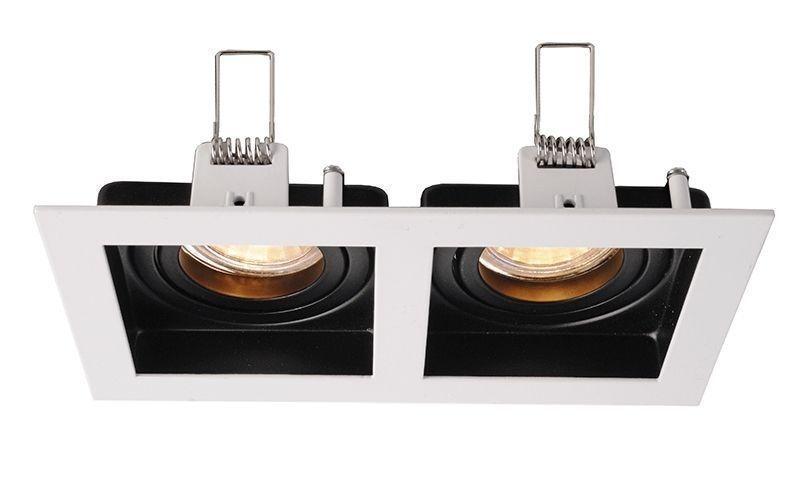 Algol II schwarz / weiß 12V AC/DC 2x max. 35 W - Deckeneinbauring – Bild 1