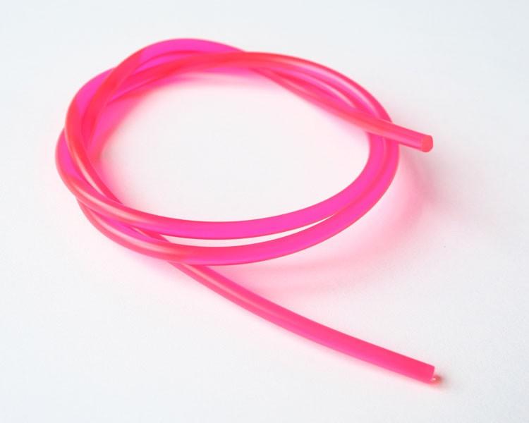 1 m Fluo UV Schnur fluoreszierend Ø 4 mm Pink