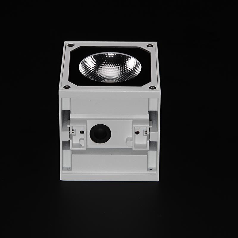7W Cubodo II Single Weiß, 230V, 3000K, Wandaufbauleuchte – Bild 3