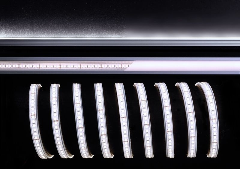 3528-180-24V-6500K-5m-Silikon Weiß 120° 24V DC 55 W 3900 lm 6500 K - Flexibler LED Stripe – Bild 1