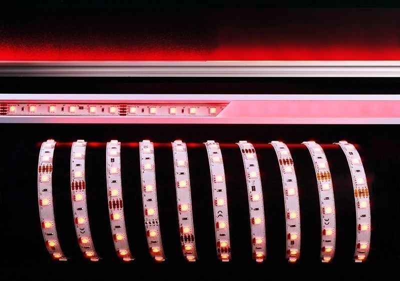 5050-60-24V-RGB-5m Weiß 120° 24V DC 60 W 2000 lm - Flexibler LED Stripe – Bild 1