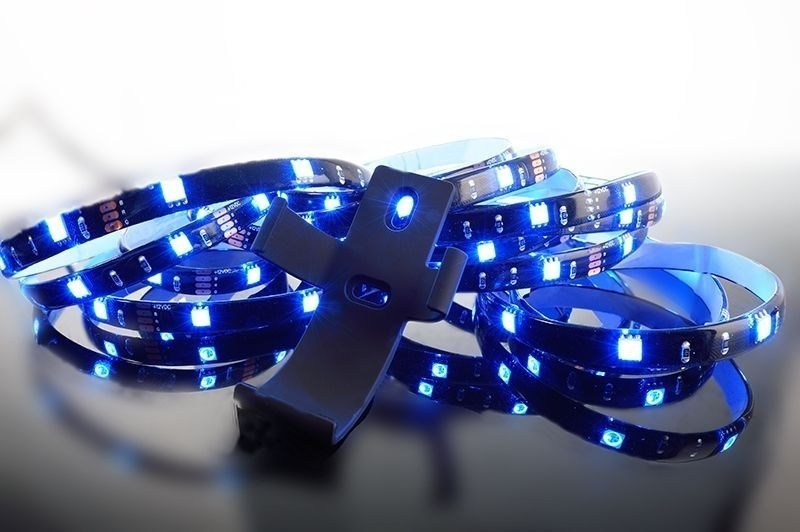 RF 5050-120-RGB-4,0m-Silikon 3000 mA 12V DC Schwarz 120° 230V AC 22 W 510 lm - LED Mixit Set – Bild 3