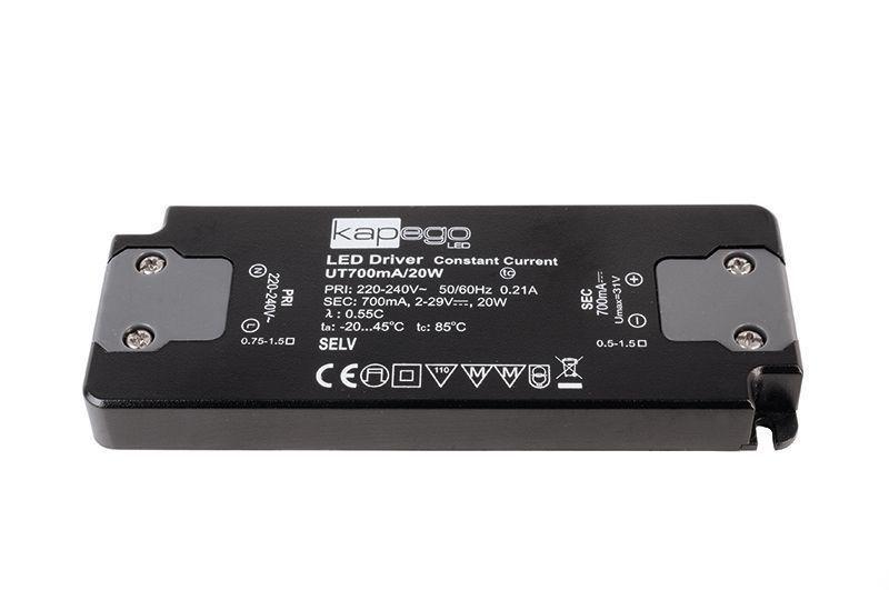 FLAT, Power Supply 700mA 20W 700 mA 2-31V DC Schwarz 230V AC 20 W - Netzgerät – Bild 1