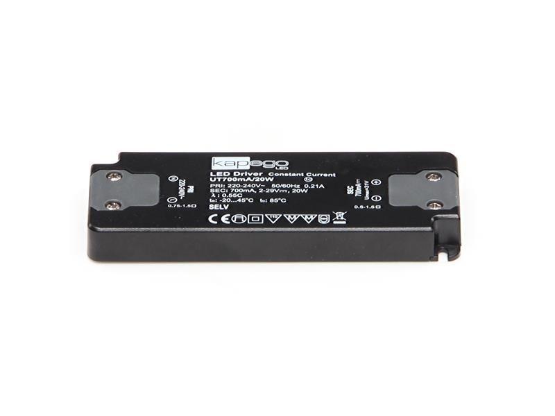 FLAT, Power Supply 700mA 20W 700 mA 2-31V DC Schwarz 230V AC 20 W - Netzgerät – Bild 2