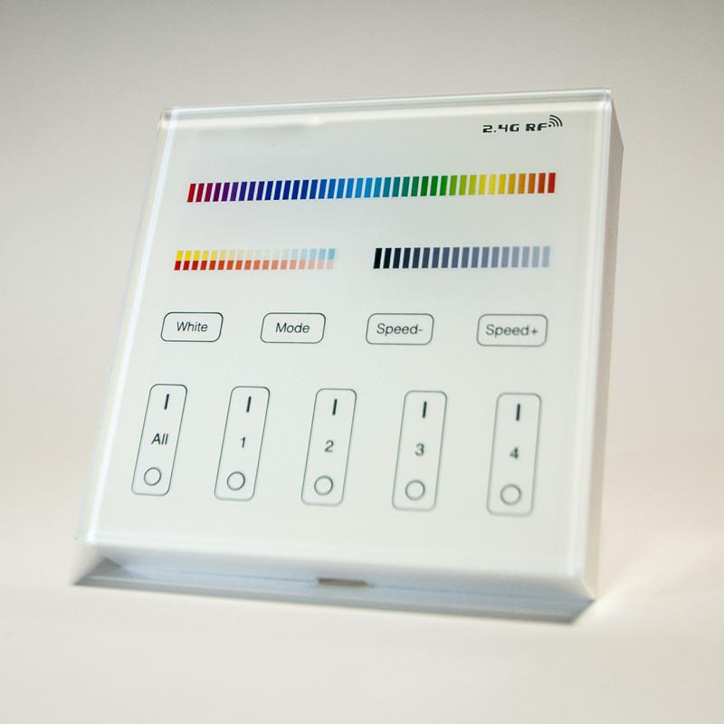 Easy Serie Touch Wandfernbedienung für RGB-W+WW  LED mit Glasoberfläche| 4 Zonen | 2,4 GHz – Bild 3
