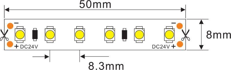 LED Streifen 5m | 2300K  | 24V 48W IP20 | dimmbar – Bild 2