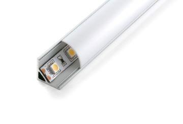1m L-Profil | 16 x 16 mm | 45 ° | weiß matt – Bild 1