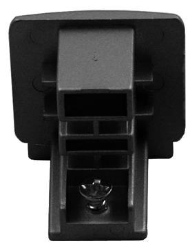 Endkappe schwarz, 3 Phasen Track Light System