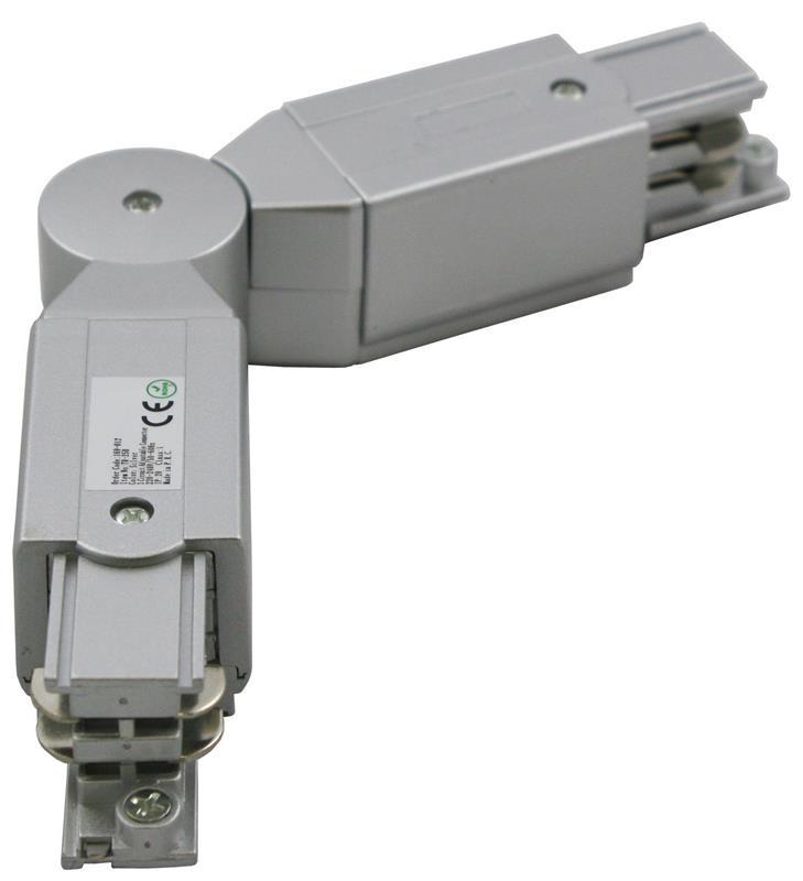 3 Phasen Track Light System Eckverbinder einstellbar  Schutzleiter Links – Bild 1