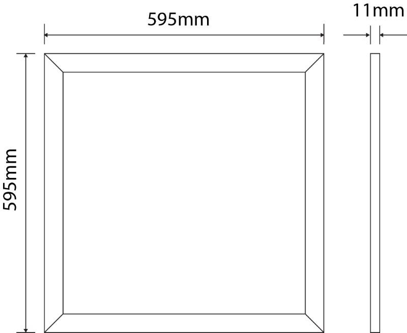LED Panel 595 mm x 595 mm | 240 V | 36 W | 3000 Kelvin | 3615 Lumen | weiß | dimmbar (Triac) – Bild 2