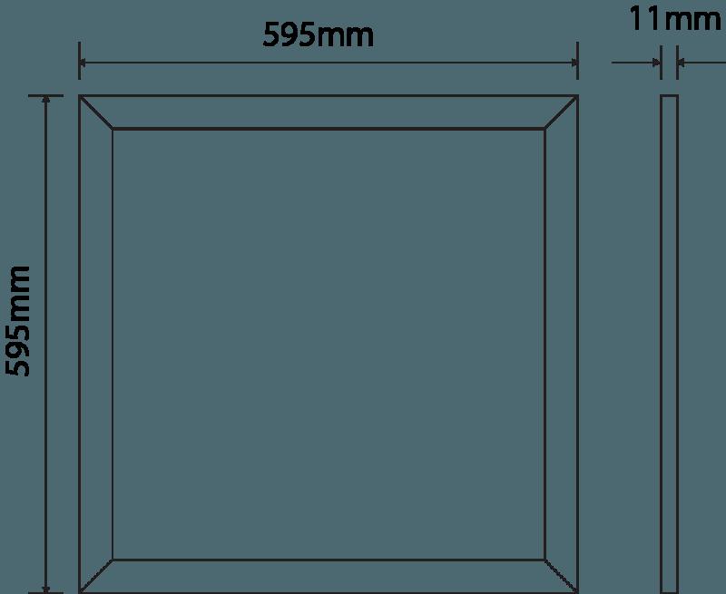 LED Panel 595 mm x 595 mm | 240 V | 36 W | 4000 Kelvin | 3638 Lumen | weiß | dimmbar (Dali) | Driver inklusive – Bild 2